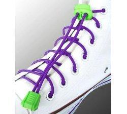 Lacets élastiques en violet