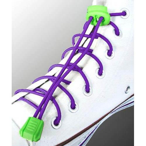 Lacets élastiques en violet sans noeud