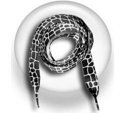 Lacets serpent noir blanc