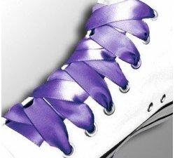 Lacets ruban satin violet améthyste