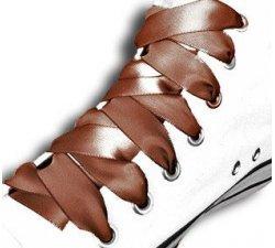 Lacets ruban satin marron chocolat