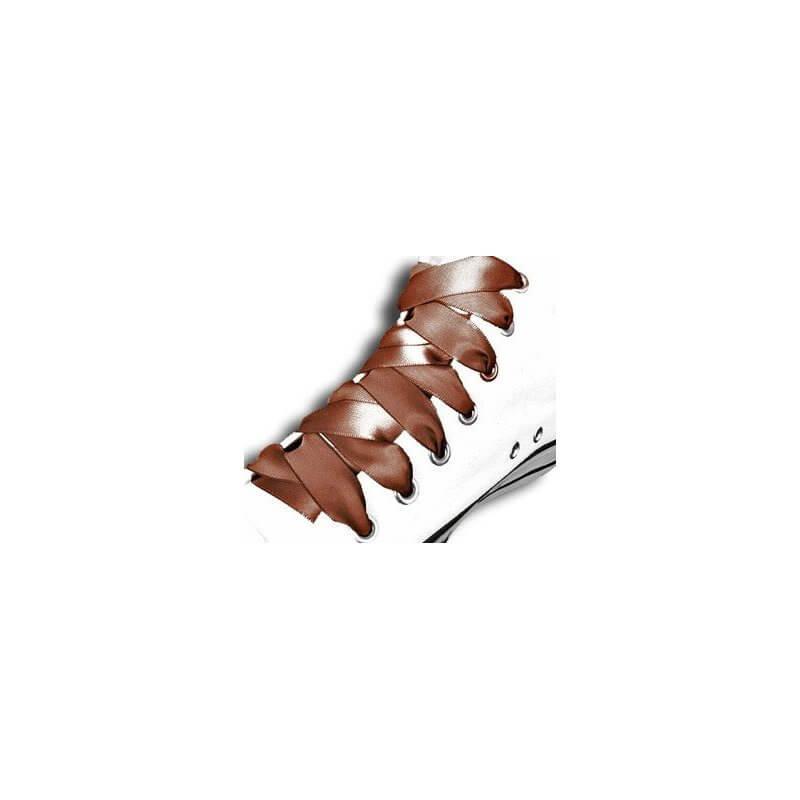 lacets ruban satin marron chocolat achat vente de lacets de chaussures en ligne. Black Bedroom Furniture Sets. Home Design Ideas