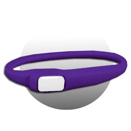 Lacet extensible en silicone violet
