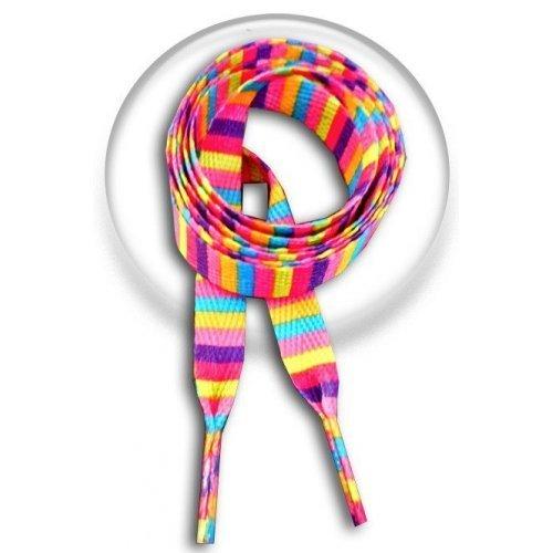 Lacets rayés multicolores