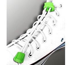 Lacets élastiques en blanc sans noeud
