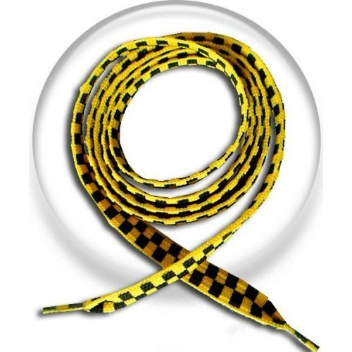 Lacets damier jaune noir