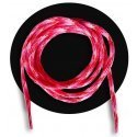 lacets ronds rose rouge