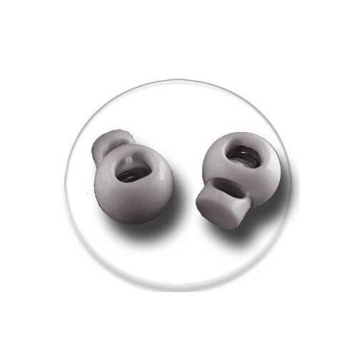 Bloqueurs-stoppeurs de lacets boules gris