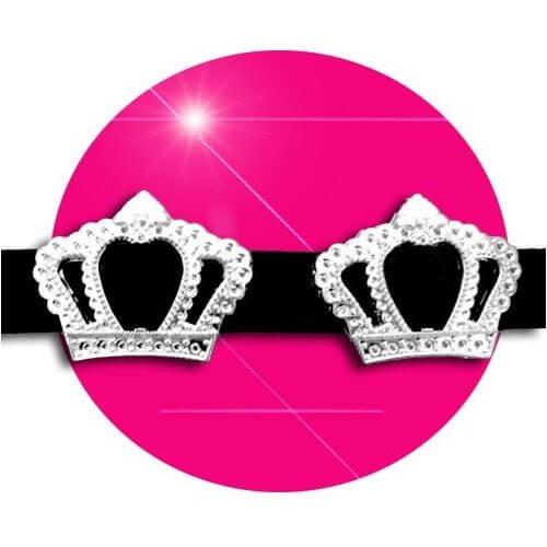 Set 2 décorations de lacets couronnes