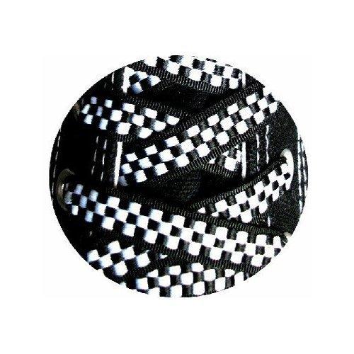 Lacets damier noir et blanc achat vente en ligne for Lino noir et blanc damier