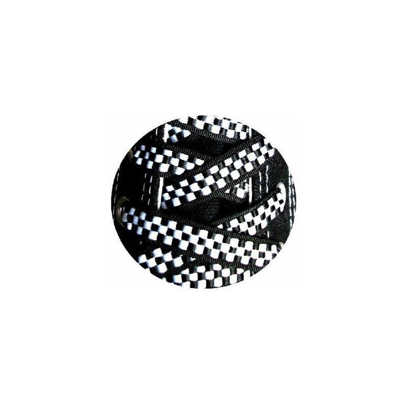 lacets damier noir et blanc achat vente en ligne. Black Bedroom Furniture Sets. Home Design Ideas