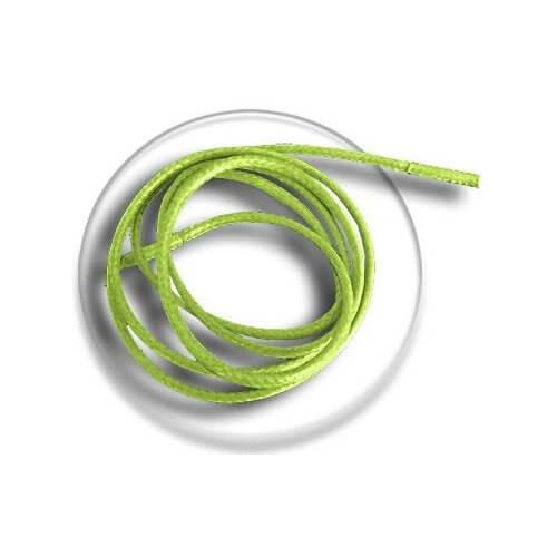Lacets fins cirés vert anis