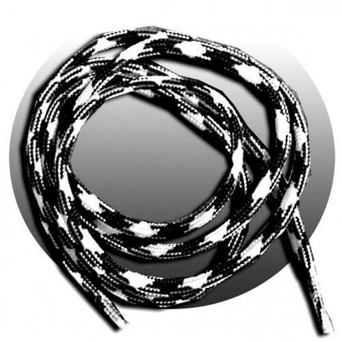 lacets ronds noirs blancs mixés