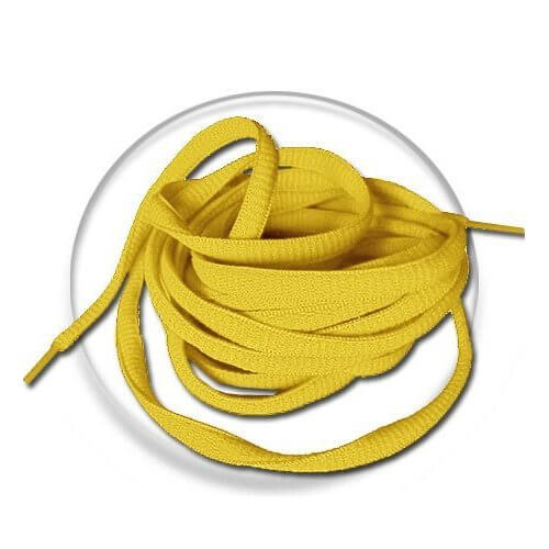 lacets ronds jaune or