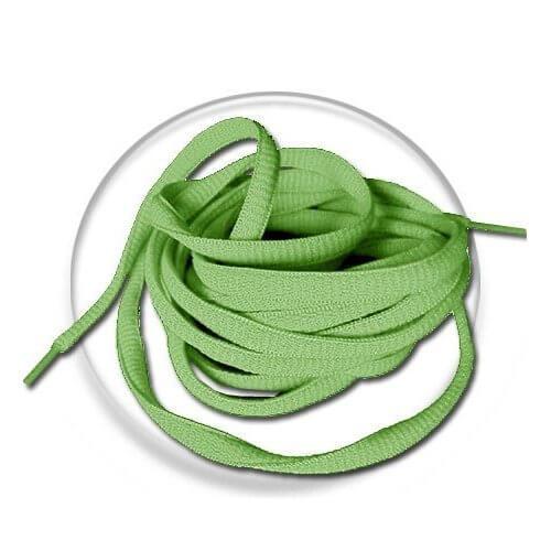 Lacets ronds en vert tendre