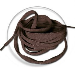 lacets ronds marrons chocolat