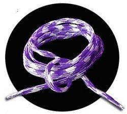lacets ronds blancs violets bicolores