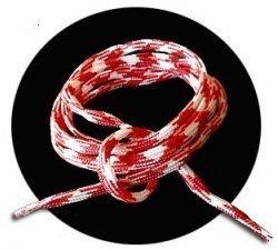 lacets ronds blancs rouges