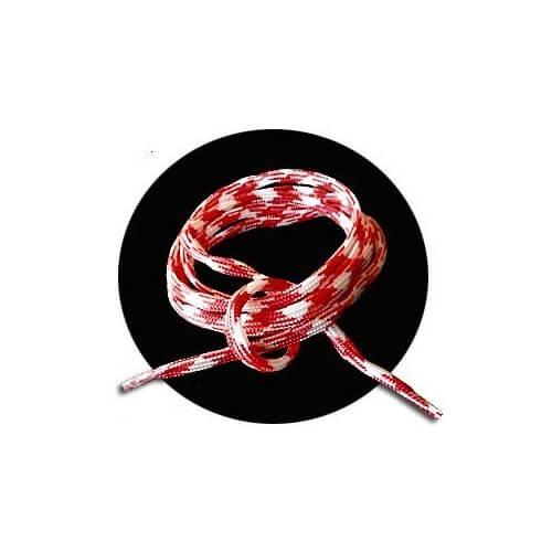 lacets ronds blancs rouges bicolores