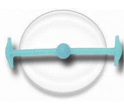 Lacet silicone élastique bleu phospho