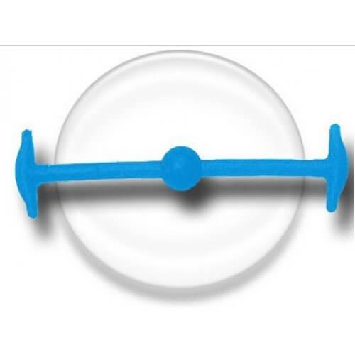 Lacet silicone sans clip bleu lagon