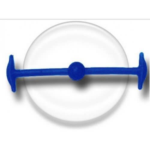 Lacet silicone élastique bleu navy