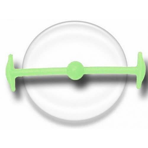 Lacet silicone élastique vert phospho