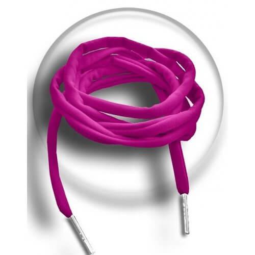 Lacets ronds roses spaghetti lycra élastique