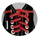 Lacets sans noeuds silicone élastique coloré.11 coloris au choix