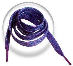 Lacets paillettes effet violet