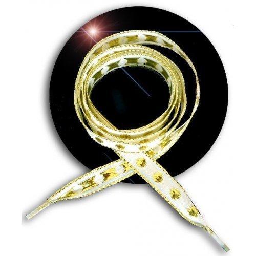 Lacets noirs brodés dorés