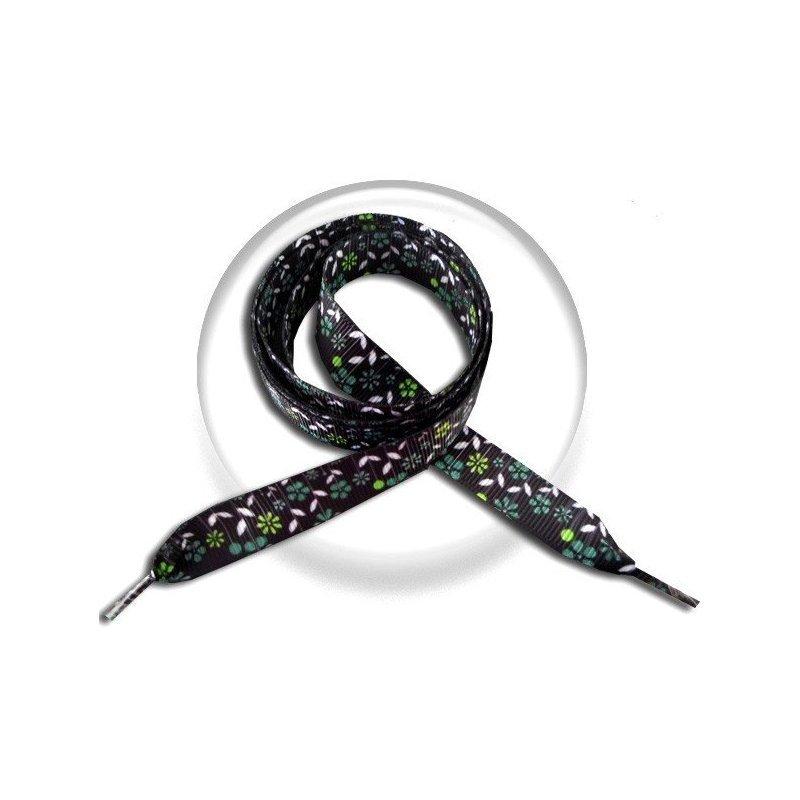 Lacets noirs fleurs bleu canard vert anis achat vente en ligne for Fleurs achat en ligne
