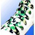 Lacets camouflage vert, noir et blanc