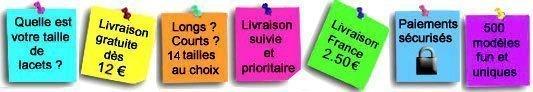 Boutique Française de Lacets fun et fantaisie en ligne