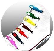 Lacets de chaussures silicone couleur à clip enfants Vtie type shoeps