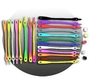 lacets silicone de couleur en ligne