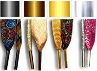 embouts et ferrets de lacets argentés, dorés , bronzes