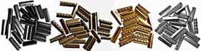 embouts metalliques dorés argentés de lacets
